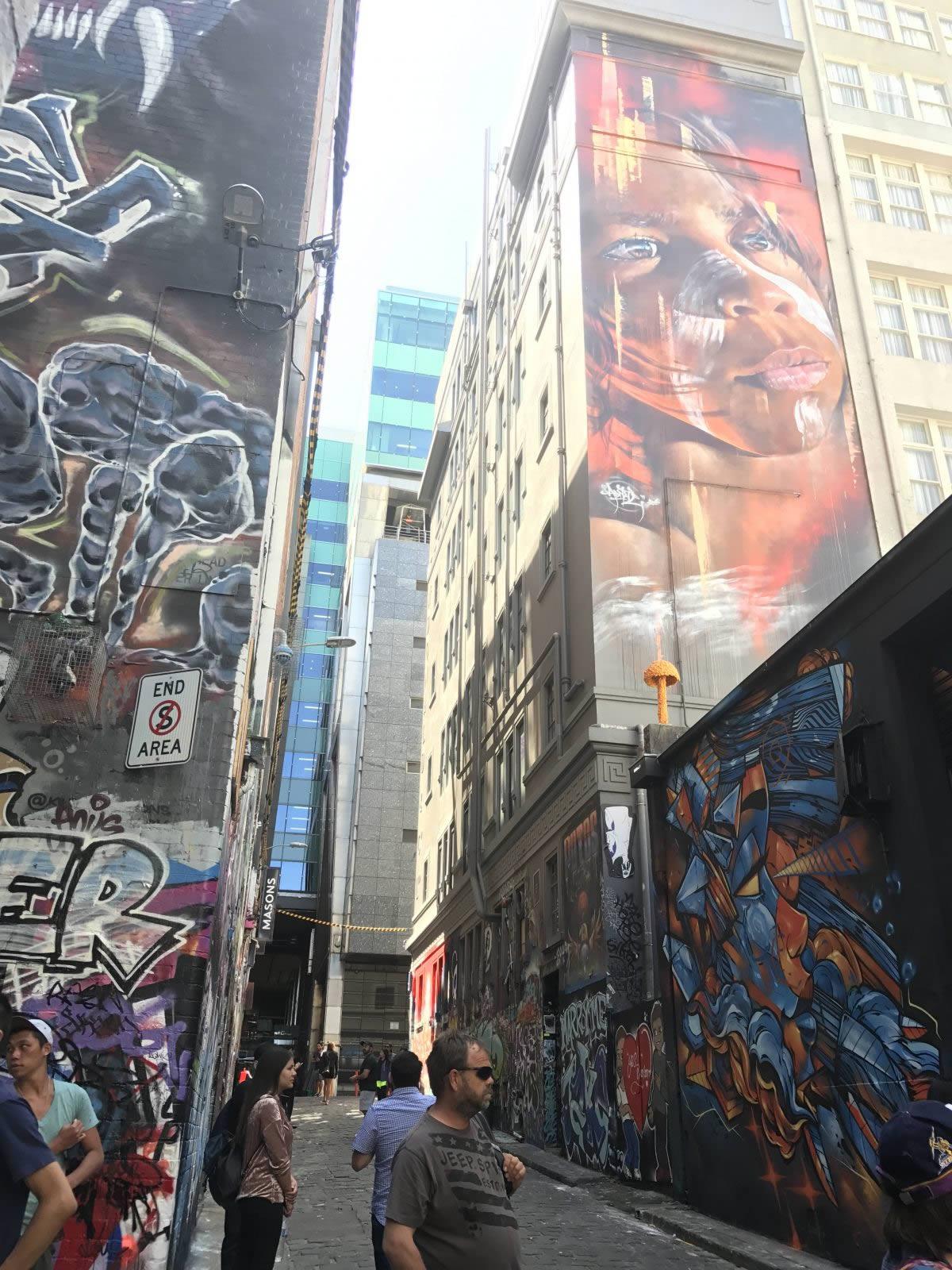 street art in Melbourne,